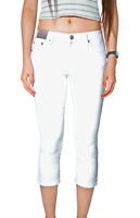WAKEE WHITE 3/4 HIGH RISE SKINNY LEG JEANS. SIZE 6-16