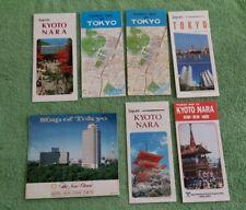 7 Vintage 4 Map 3 Brochure Tokyo Japan Hotel Otani 1980s 1990s Kyoto Nara Lot