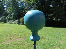 Finial- verdi patina ball yard globe- Weathervane alternative
