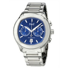 Piaget Polo S Automatic Chronograph Blue Dial Mens Watch G0A41006