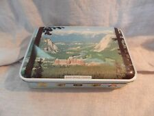 "Vintage Riley's Toffee Tin Banff Springs, Canada 8.5"" x 5.5"""