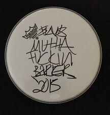 TRAVIS 'MUTHA F*CK3N' BARKER 'BLINK 182' SIGNED DRUMHEAD PSA/DNA COA #V53586