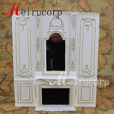 1/12 scale dollhouse mini furniture golden manual painting overall fireplace