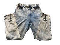 Vintage Hunts Club Jeans ACID WASH 80s 90s ANKLE ZIP Bows High Waist 11 B5