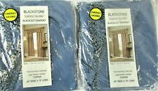 Blackstone Blue Energy Saving Blackout Drapery 2 Sets of Toppers Valances 54x15