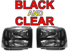 DEPO Black Clear Corner Headlights For 05 06 07 Ford F250 F350 Superduty Harley