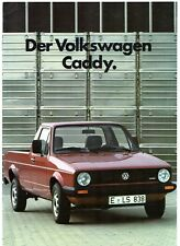 Volkswagen Caddy Pick-Up 1984-85 German Market Sales Brochure Golf Mk1