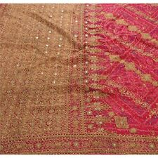 Sanskriti Heavy Saree Pure Chiffon Silk Sari Antique Vintage Fabric Bandhani