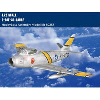 HobbyBoss 80258 1/72 F-86F-30 Sabre Fighter Plastic Aircraft Assembly Model Kits