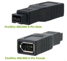 IEEE1394 6PIN Female to 9PIN male converter firewire 400 TO 800 adapter