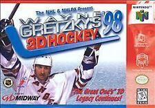 Wayne Gretzky's 3D Hockey '98 (Nintendo 64, 1997) N64 N GAME ONLY WORKS WELL