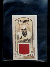 HENRIK ZETTERBERG 2009/10 UD CHAMPS MINI GAME USED WORN JERSEY AB3631