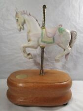 Willitts Carousel Waltz Porcelain White Horse Group Ii