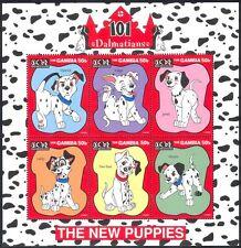 Gambie 1997 Disney/101 Dalmations/chiens 6 V Sht (b1638)