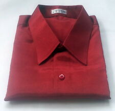 Mens Thai Silk Shirt / S-M-L-XL-XXL-XXXL / 23 Colour /Dress Casual Short Sleeve