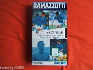 VHS=RETI AZZURRE=I goal che hanno fatto grande la nazionale italiana=videocasse