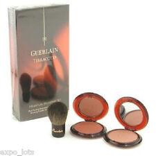 Guerlain TERRACOTTA Bronzing Face Powder Set ~ 00 & 02 ~ + Kabuki Brush