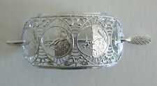 SALE Filigree Vintage Hair Clip Pin West Germany Light Weight Never Worn Silver