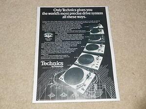 Technics Plattenspieler Ad, 1977, SL-1400, SL-1300, SL-1500, Sl-1350, SL-1200, 1