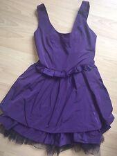 Señoras Corto púrpura Cóctel Vestido talla 8