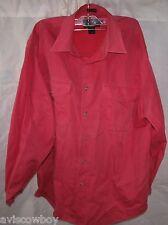 EDDIE BAUER Pink Denim 100% Cotton Button Up Shirt Men's M