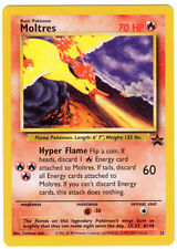 Moltres Rare Pokemon Card Wizards Movie 2000 Black Star Promo #21