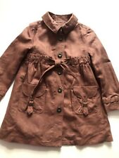 Original Burberry leichter Trench Coat Mantel Jacke 4 Gr 104 braun neu