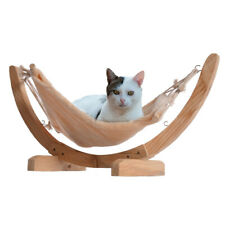 Cat Hammock Chair with Wooden Frame Siesta Large Cat Plush Swing Bed