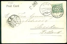 EGYPT : 1905. Picture Post Card from Port Said to Holland, cancelled on ship.
