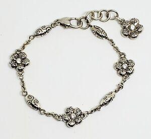 Brighton La Vie Spring Flower Crystals Silver Bracelet