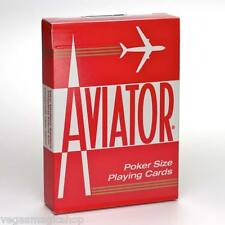 Aviator Standard Red Deck Playing Cards Poker Size USPCC Premium Quality Sealed