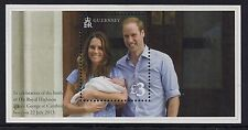 2013 GUERNSEY BIRTH OF ROYAL BABY PRINCE GEORGE MINISHEET FINE MINT MNH/MUH