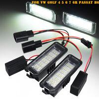 2x LED Feux éclairage plaque pour VW Golf 4 5 6 Polo 9N 6R Passat B6 CC Lupo