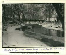 Press Photo Private bridge over Moores Creek on Valley Road, New Jersey