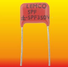 5 pF 350 V 10 % LOT OF 2 LEMCO SEC SILVER-MICA CAPACITORS