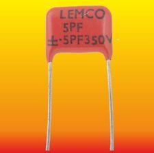 5 pF 350 V 10 % LOT OF 2 LEMCO SEC SILVER-MICA CAPACITORS
