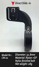 Hinged Out Front Handle Bar Mount  For Cateye Computers 31.8mm Black