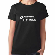 olly murs T-shirt lady fit blue/& white woman/'s cotton fotl new music lady XL