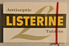Vintage 1960s Listerine Antiseptic Tablets Sealed in Box Very Rare -- 2756