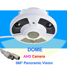 AHD 1.0MP 720P 360° Panoramic Vision CCTV Security Dome FishEye NIGHT CAMERA