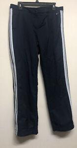 Nike Blue White Nylon Mesh Lined Athletic Warm Up Pants Size Large 12-14