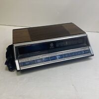 VINTAGE GE ELECTRONIC TOUCH CONTROL AM/FM CLOCK RADIO  7-4662B Tested