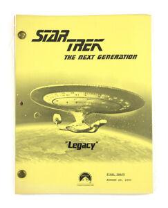"STAR TREK: TNG ORIGINAL SCRIPT-  ""Legacy,"" Written by Joe Menosky"
