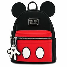 Loungefly Mickey Mouse Mini Backpack Bag with Bag Charm 2017 FALL RELEASE