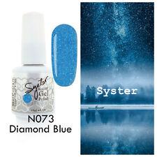 SYSTER 15ml Nail Art Soak Off Color UV Lamp Gel Polish N073 - Diamond Blue
