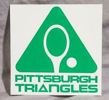 Vintage Rare Pittsburgh Triangles World Team Tennis WTT Sticker Decal (g10)