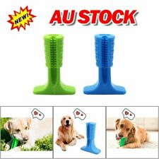 Dog Toothbrush Toy Pets Oral Care Molar Rod Silicone Bristly Brushing Stick EA
