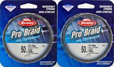 (Lot Of 2) Berkley Pro Braid With Dyneema 300Yd Bpbn30050-22 50Lb L-Vs Grn E5402