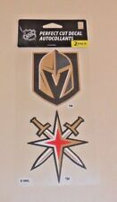 LAS VEGAS GOLDEN KNIGHTS 2 4 X 4 DIE-CUT DECAL OFFICIALLY LICENSED PRODUCT