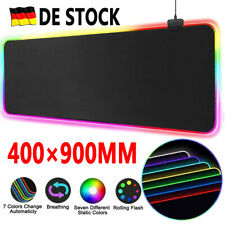 RGB Bunte LED Beleuchtung Gaming Matte Spiele XXL Mouse Pad für PC 90X40CM DHL